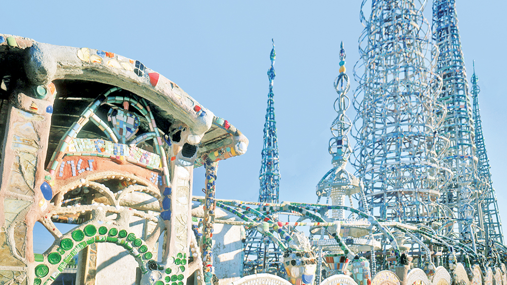 The Watts Towers by Simon Rodia sit on the artist's original residential property.